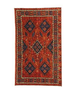Eden Teppich Ersari rot/blau 107 x 177 cm