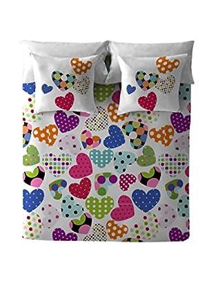 COSTURA Set Bettbezug Und Kissenbezug Pop Heart