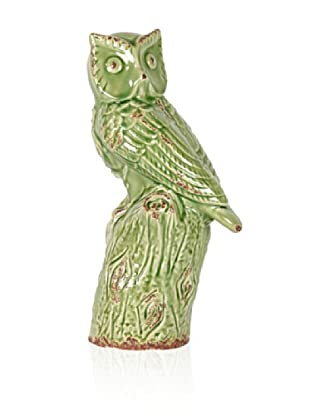 Urban Trends Collection Ceramic Owl (Green)
