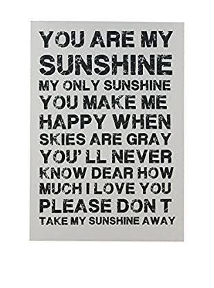 Lienzo You Are My Sunshine Black
