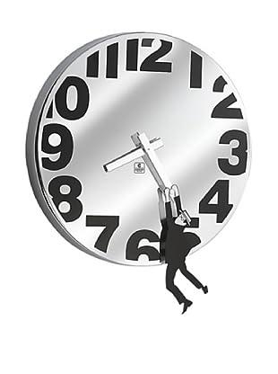 Metal Wall Clock with Man Hanging, 12