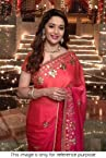 Madhuri Dixit Blooywood Replica Peach Georgette Saree