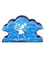 Exclusive Wooden Napkin Holder Blue Hand Painted Musicians By Rajrang