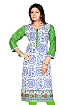 Pakistani Long Anarkali Long Printed Embroidery Kurtis(Size : Medium)