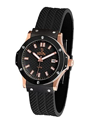Dogma G7023 - Reloj de Caballero movimiento de quarzo con correa de caucho negro