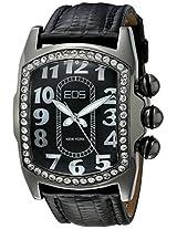 Eos New York Eos New York Unisex 81Lblkblk Vanguard Black Leather Strap Watch - 81Lblkblk