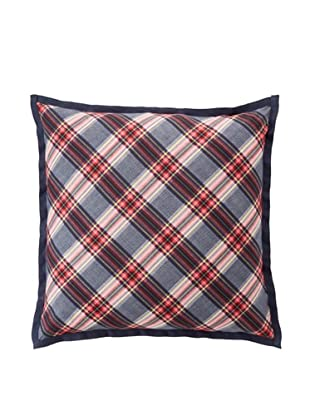 Tommy Hilfiger Rustic Floral Collection Pillow, Smoke Plaid