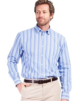 Cortefiel Camisa Pin Point (Azul)