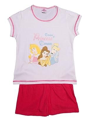 Disney Pijama NIña Manga Corta (Blanco)