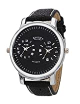 Exotica Analog Black Dial Men's Watch (EF-87-Dual-Black)
