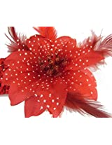Red Blooming Flower Headband