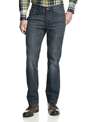 Denim & Leathers by Andrew Marc Men's Off Road Straight Leg Jean (Indigo)