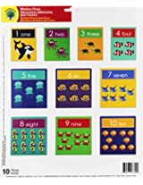 Teaching Tree Educational Window Clings - Reusable Window Decorations (Numbers and Sea Animals)
