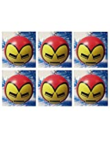Avengers Super Hero IRON MAN 6 Piece Holiday Christmas Ornament Set - Shatterproof Iron Man Ornaments are Around 2 Tall by 2 Wide