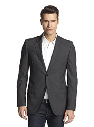 Calvin Klein Collection Men's Hudson Two Button Sportcoat (Squirrel Grey)