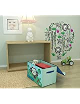 Home Candy Monkey Print Cardboard Foldable Multi Utility Storage Box