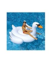 """Swimline Swimming Pool Kids Giant Rideable Swan Inflatable Float Toy Raft 75"""""""