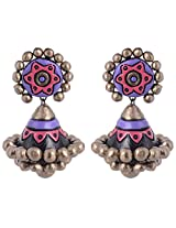 Scorched Earth Ishi Pink Terracotta Jhumki Earrings for Women