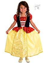 Little Adventures 11322 Snow White Princess Dress Costume Size 3 5 With Hairbow