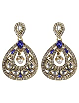 MUCHMORE Partywear Collection Crystal Made Gold Plated Fashion Earring For Women Gift Jewelry