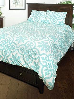 Rizzy Home Aqua Matilda 3-Piece Comforter Set