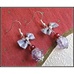 [E17B_002] Purple Bow Earrings 02