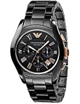 Emporio Armani Chronograph Black Ceramic Mens Watch AR1410