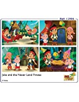 Frank Jake and the Never Land Pirates 4 in 1 Puzzles, Multi Color