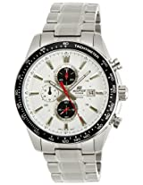 Casio Edifice Tachymeter Chronograph White Dial Men's Watch - EF-547D-7A1VDF (ED400)