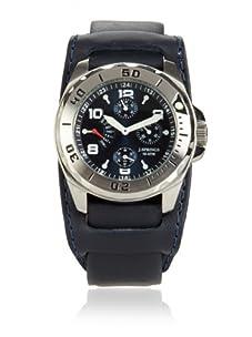 J Springs by Seiko Men's Retrograde Blue/Black Leather Watch