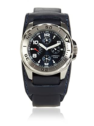 J Springs by Seiko Men's Retrograde Blue/Black Leather Watch