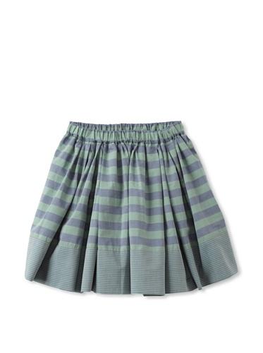 kicokids Girl's Striped Circle Skirt (Grass)
