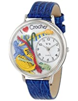 Whimsical Watches Unisex U0450011 Crochet Royal Blue Leather Watch