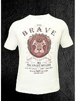Peter England Oatmeal Melange T-Shirt