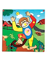 Skillofun Theme Puzzle Standard Monkey Knobs, Multi Color