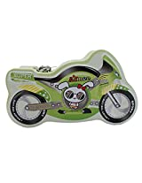 The Super Bike Style Metal Piggy Kiddy Money Toy Bank for Kids - Green