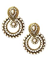 Beingwomen Elegant Gold Traditional Ethinic Dangle Earring