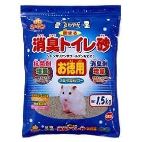 【クリックで詳細表示】ジャンガリアンのさわやか脱臭トイレ砂お徳用1.5kg: ペット用品