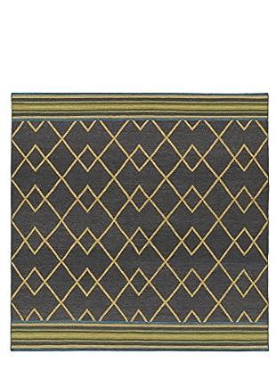 Kaleen Nomad Rug, Charcoal, 8' Square