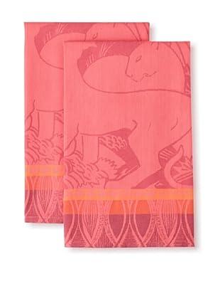 Garnier-Thiebaut Set of 2 Africa Flamme Kitchen Towels