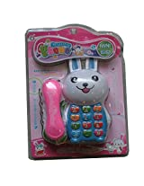 Kids Mini Play Phone Toy With Light And Music