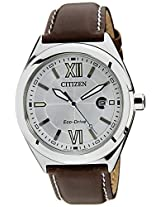 Citizen Eco-Drive Analog White Dial Men's Watch AW1170-00H
