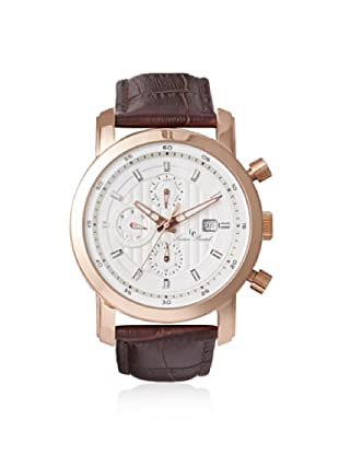 Lucien Piccard Men's 12584-RG-02S Toules Brown/Silver Leather Watch