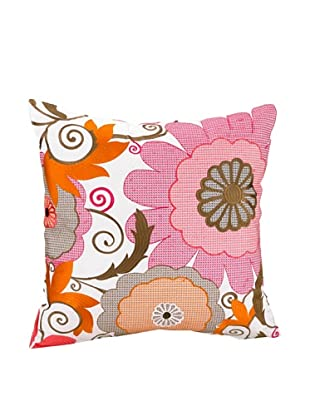 Trellis Decorative Pillow, Pink/Brown