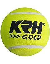 KRH Unisex Cricket Tennis Ball - Standard (Yellow) pack of 6