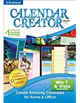 Brand New Calendar Creator Deluxe V12.1 (Works With: WIN XP VISTA WIN 7)