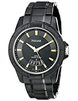 Pulsar Black Stainless Steel Mens Watch Ps9273