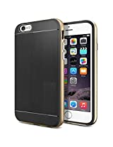 Bracevor Neo Hybrid Bumper Back Case for Apple iphone 6 Plus - Golden