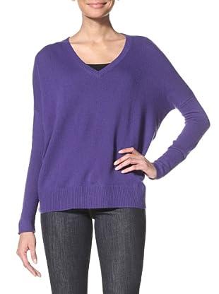 Cullen Women's V-Neck Sweater (Violet)
