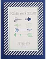 My Baby Sam Follow Your Arrow Wall Art, Navy